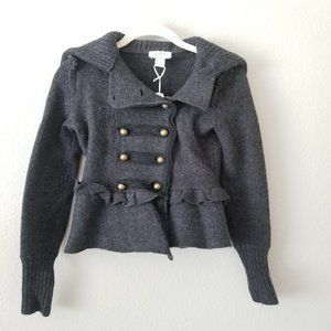 Dark Gray 'Ann Taylor Petites' Wool Coat